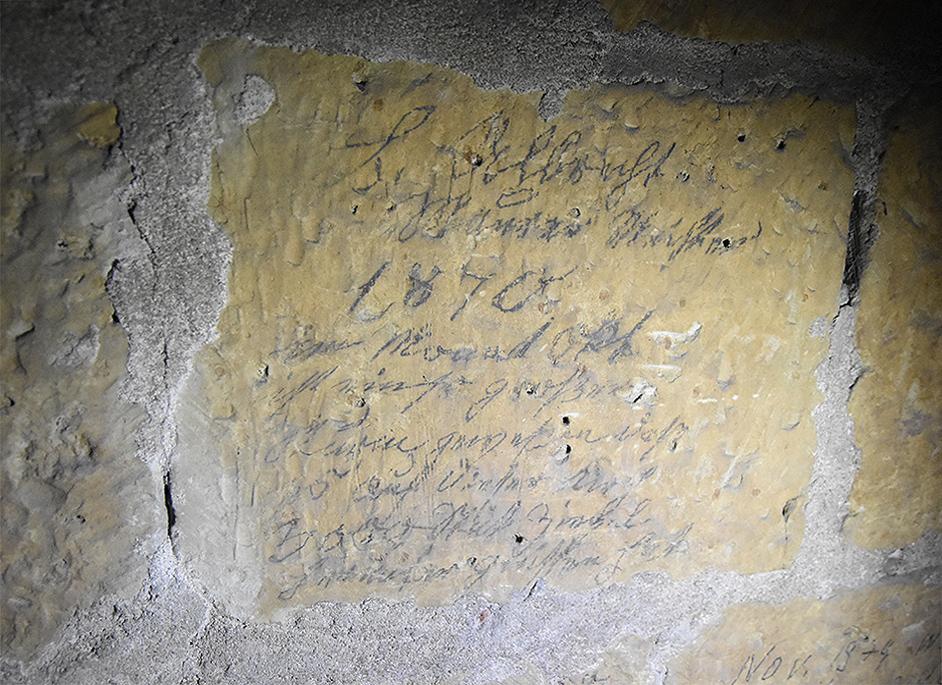 Bauinschrift 1870