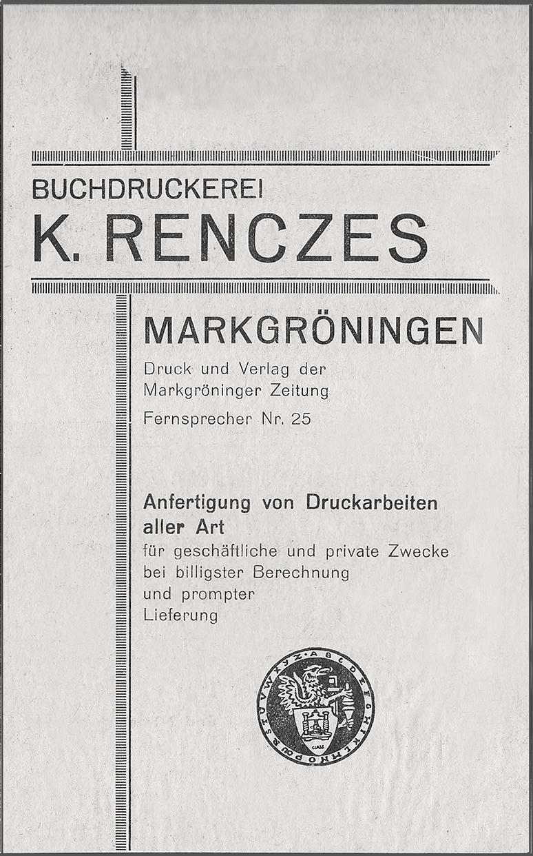 Anzeige Renczes