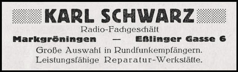 Anzeige Schwarz
