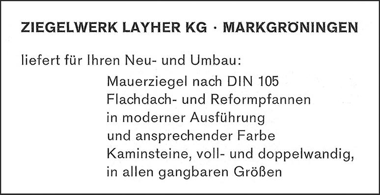 Anzeige Layher