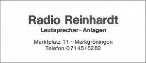 Anzeige Reinhardt