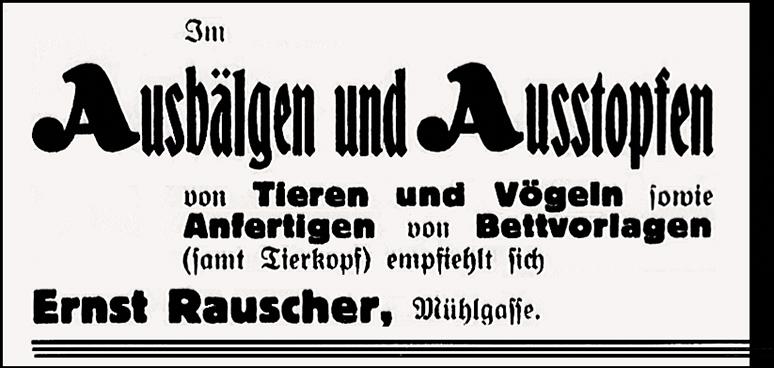 Anzeige Rauscher