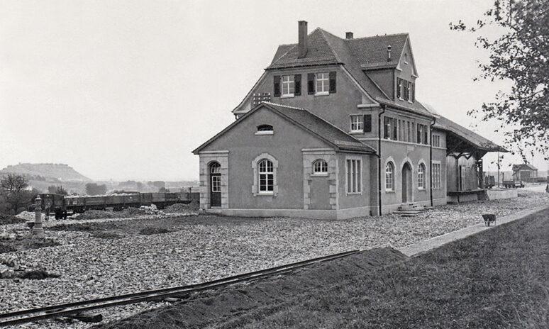 Bau am Bahnhof MG