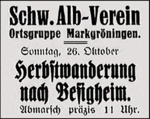 Anzeige Albverein