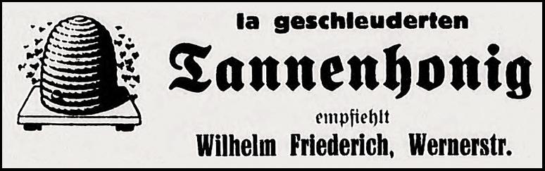 Anzeige Friederich