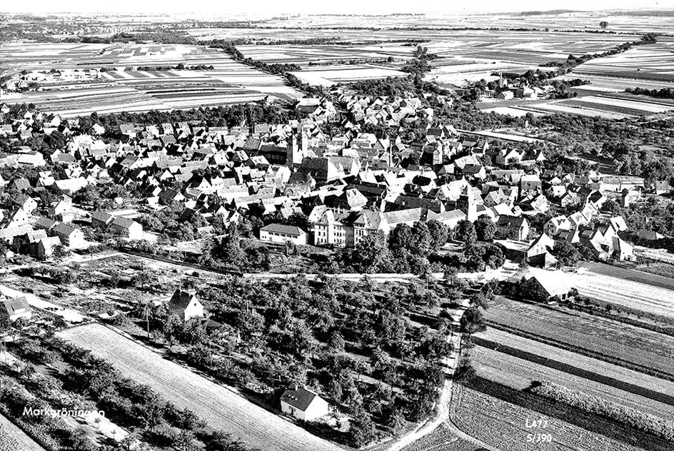 Stadtansicht um 1960