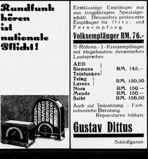 Anzeige Dittus